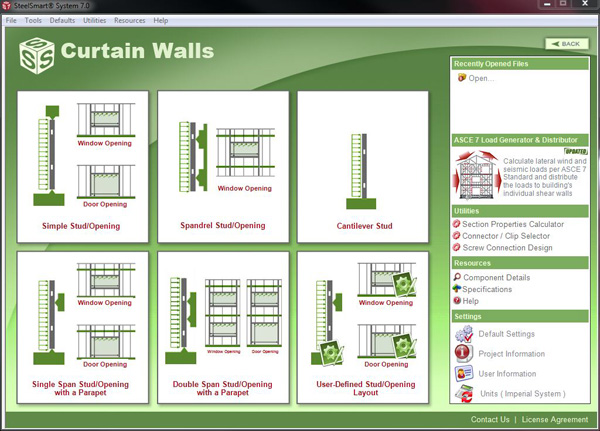 Curtain Wall Cold Formed Steel Design Software Amp Training