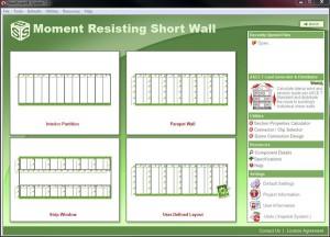 Light Gauge Steel Moment Resisting Short Wall Design Software