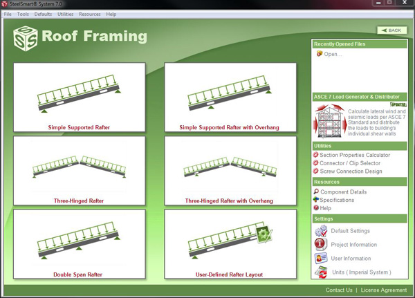 Roof framing steelsmart system for Curtain creator software