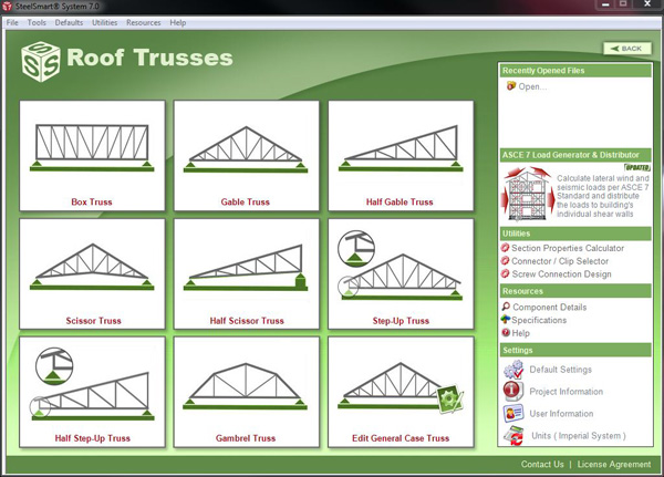 Roof Truss Cold Formed Steel Design Software Amp Training