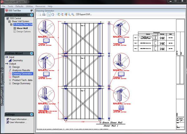 Shear Wall Design Download : Layout generator steelsmart? system