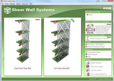 New Twin Stack Shear Wall Design Options