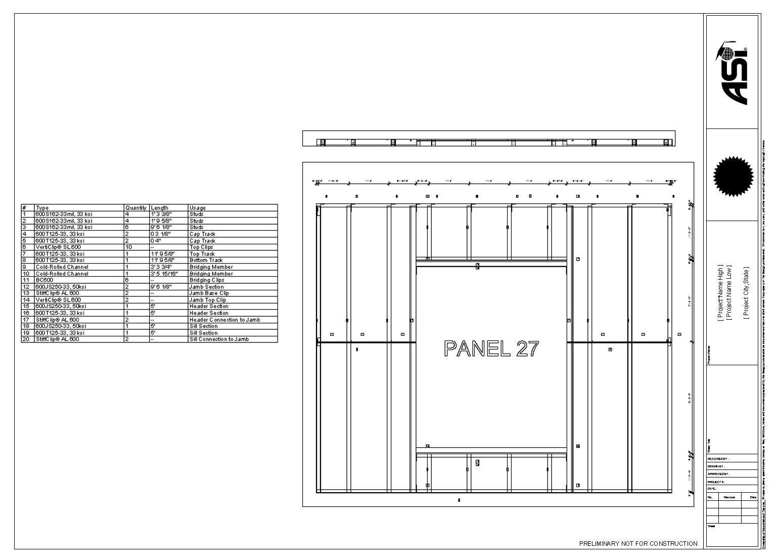 Steelsmart Framer Light Steel Framing Bim Autodesk Revit Plugin English Drawing Shear Force And Bending Moment Diagrams Youtube Panel With Cut List