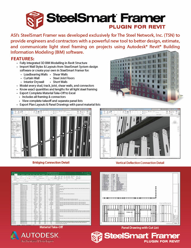 SteelSmart Framer Light Steel Framing BIM Plugin for Revit - Brochure