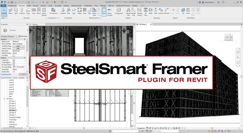 SteelSmart Framer - Cold-formed Steel BIM Plugin for Revit