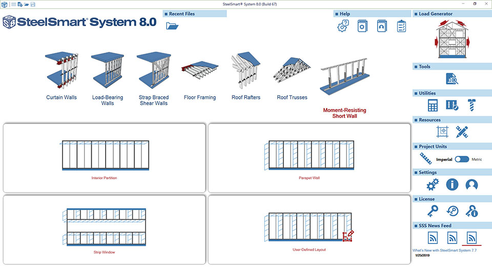 Cold-formed Steel Moment Resisting Short Wall Design Software Module