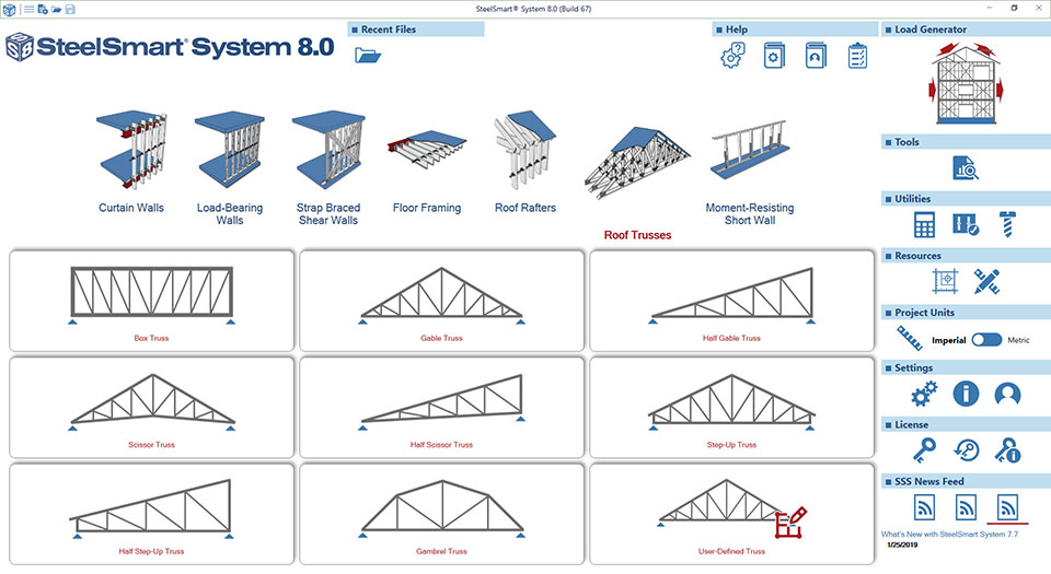 Cold-formed Steel Roof Truss Design Software Module