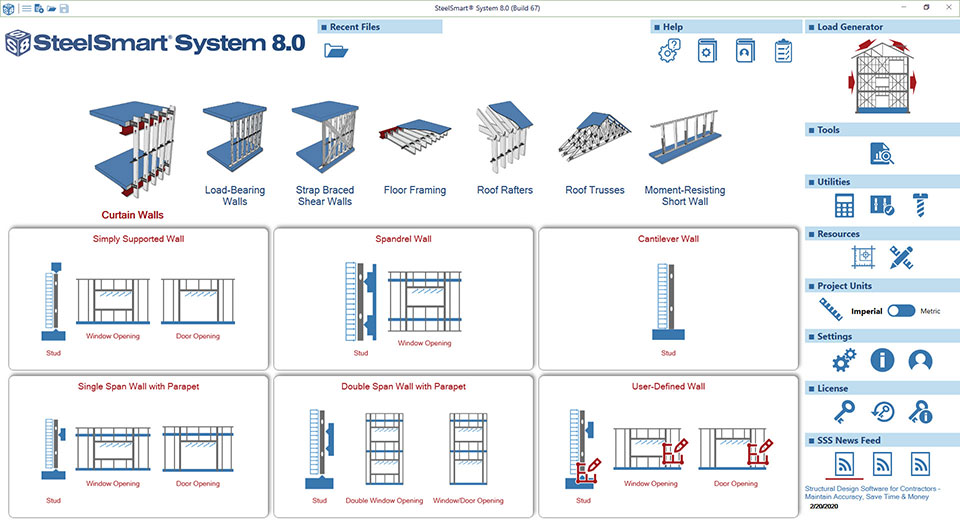 Cold-formed Steel Curtain Wall Design Software Module