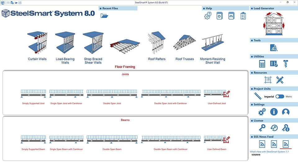 Cold-formed Steel Floor Framing Design Software Module